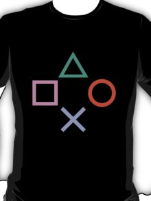 PlayStation Control Buttons T-Shirt