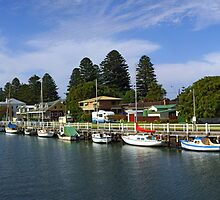 Port Fairy, Moyne River. Victoria, Australia. by Andy Berry