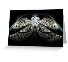 Raw Blue Angel in Black Leather Greeting Card