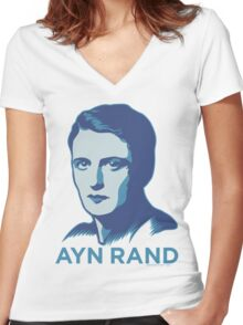 Ayn Rand Women's Fitted V-Neck T-Shirt
