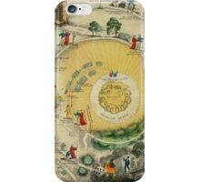 """""""Plan of the Road from the City of Destruction to the Celestial City, engraved expressly for Williams's Elegant Edition of The Pilgrim's Progress"""", 19th century (engraving) iPhone Case/Skin"""