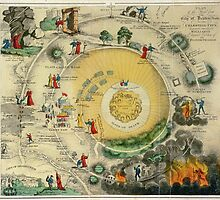 """""""Plan of the Road from the City of Destruction to the Celestial City, engraved expressly for Williams's Elegant Edition of The Pilgrim's Progress"""", 19th century (engraving) by Bridgeman Art Library"""