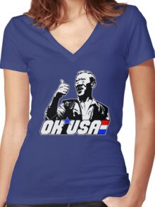 OK, USA! Women's Fitted V-Neck T-Shirt