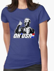 OK, USA! Womens Fitted T-Shirt