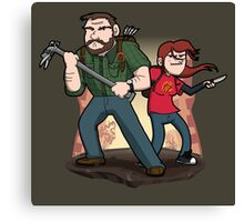 Post-Apocalyptic Dynamic Duo! Canvas Print