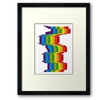 Seismic Rainbow Framed Print
