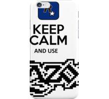 keep calm and use razor iPhone Case/Skin