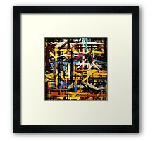 Paint Color Splatter Brush Stroke #2 Framed Print