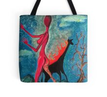 The Burning Giraffe Interpretation  Tote Bag