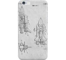 Space Shuttle Original Patent Art iPhone Case/Skin