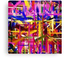 Abstract Paint Color Splatter Brush Stroke Canvas Print