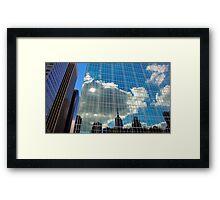 NYC skyscraper building Framed Print