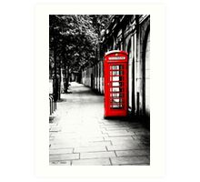 London Calling - Iconic British Phone Box Art Print
