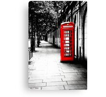 London Calling - Iconic Red British Telephone Box Canvas Print