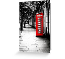London Calling - Classic British Red Telephone Box Greeting Card