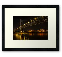 Two Bridges at Nght Framed Print