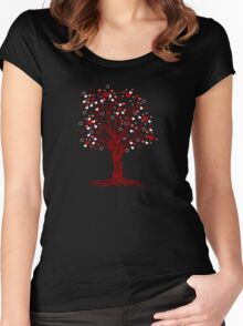 Heart Tree Women's Fitted Scoop T-Shirt