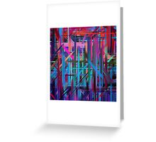 Abstract Paint Color Splatter Brush Stroke #3 Greeting Card
