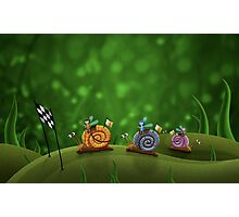Snail Racing Photographic Print
