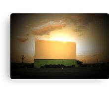 Drive-In Sunset Canvas Print