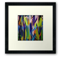 Paint Color Splatter Brush Stroke #4 Framed Print