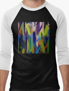Paint Color Splatter Brush Stroke #4 Men's Baseball ¾ T-Shirt