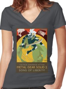 Metal Gear Solid 2: Sons of Liberty Women's Fitted V-Neck T-Shirt