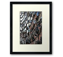 Tags Framed Print