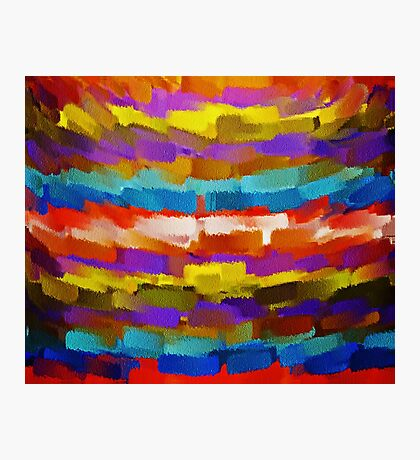 Abstract Paint Color Splatter Brush Stroke #4 Photographic Print