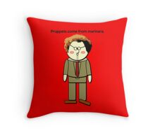 Pruppets Come From Marinara Dr. Steve Brule Design by SmashBam Throw Pillow