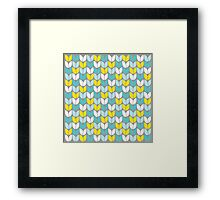 Tulip Knit (Aqua Gray Yellow) Framed Print