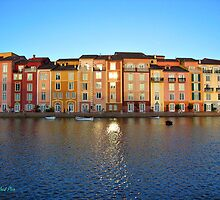 Sunset in Portofino Bay by Roland Pozo
