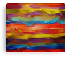 Abstract Paint Color Splatter Brush Stroke #5 Canvas Print
