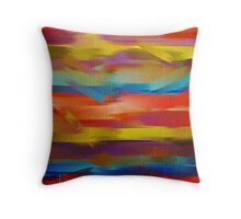Abstract Paint Color Splatter Brush Stroke #5 Throw Pillow