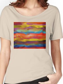Abstract Paint Color Splatter Brush Stroke #5 Women's Relaxed Fit T-Shirt
