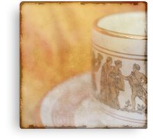 Greek Coffee  - JUSTART ©  Canvas Print