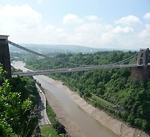 Clifton Suspension Bridge, from above by cathabrown