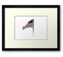 GOD BLESS AMERICA. Framed Print