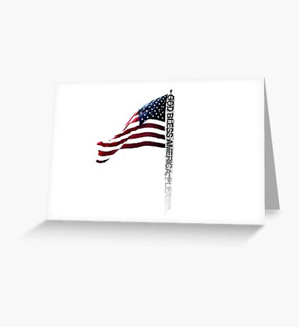 GOD BLESS AMERICA. Greeting Card