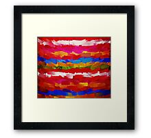 Paint Color Splatter Brush Stroke #7 Framed Print