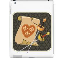 two swords and scroll iPad Case/Skin