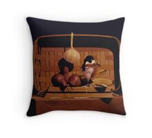 What's with the cheese? Throw Pillow