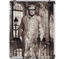 Sir Winston Churchill statue at Petite Palais in Paris iPad Case/Skin