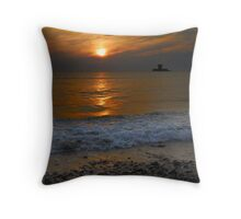 Rocco At High Tide Throw Pillow