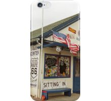 Route 66 - Angel's Barber Shop iPhone Case/Skin