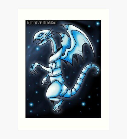 The Blue-Eyes White Dragon Art Print