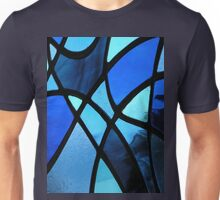 Stained Glass Abstract (Blues) Unisex T-Shirt