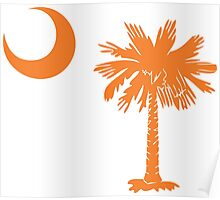 Orange Palmetto Moon Poster