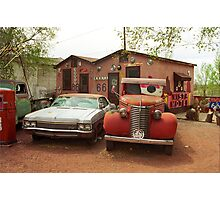 Route 66 - Snow Cap Drive-In Photographic Print