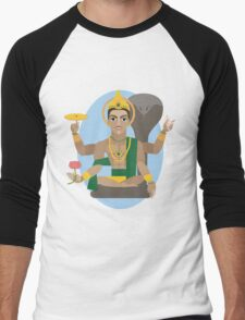 illustration of Hindu deity lord Vishnu Men's Baseball ¾ T-Shirt